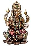 #10: PRINTELLIGENT 'Ganesh Idol Cold cast Bronze Sculpture Hindu God Figurine Ganesha Statue Decor Gifts