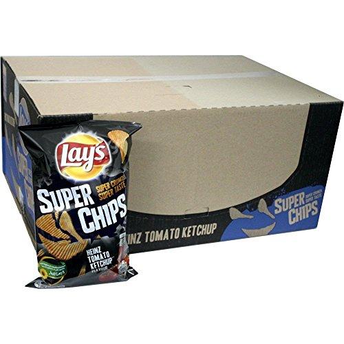 Lays Super Chips Heinz Tomaten Ketchup 20 x 200g Karton (Riffel Chips Heinz Tomato Ketchup)