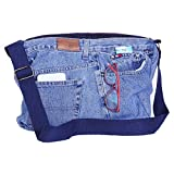 #8: dwij Messenger Bag Made Up of Upcycled Jeans - Eco Friendly/Unique / Trendy/Washable / Durable