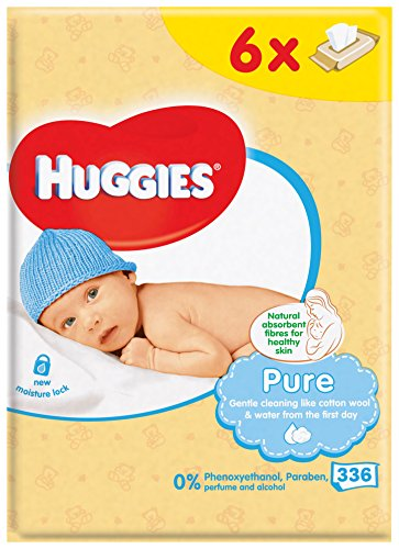 Huggies Pure Baby Wipes – 6 Packs (336 Wipes Total) 51wY4KeINsL