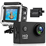 Action Kamera 4K 12MP Sports Cam HTD15 - Ultra Full HD Action Camera 140 ° Weitwinkel 30 Meter...