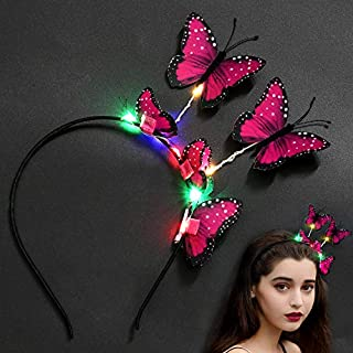 Aniwon Haarreif Kreative Butterfly Decor 8 LEDs leuchten Haarband Party Stirnband