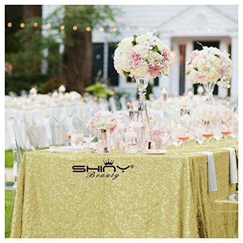 del von Pailletten Tischdecke Light Gold 60x 120gold Hochzeit Set Pailletten Tischdecke (Halloween-dekoration Großhandel Preise)