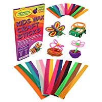 Purple Ladybug Novelty Mega Value Mix Pack of Kids Wax Craft Sticks   15 Colors, 2 Lengths - 6 Inch Standard and 12 Inch Super Long, 150 of Each! Kids Art Supplies with no Mess, Great as Travel Toys!