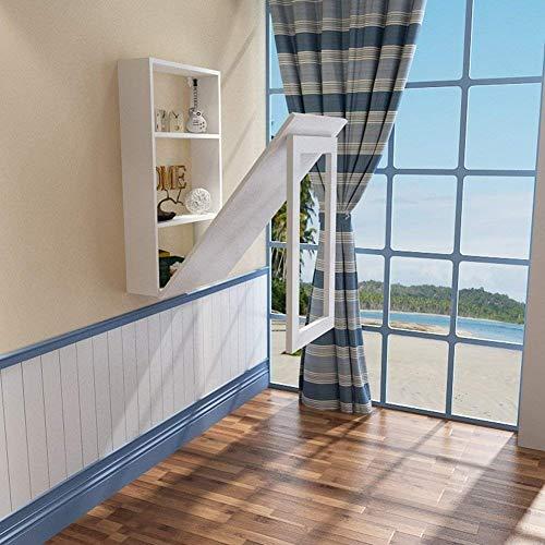 LYQZ Wandtisch, an der Wand befestigter Klapptisch für kleine Räume Klapptisch Esstisch Convertible Desk Solid Wood (Kleine Räume Für Esstisch)