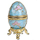 H & D Jeweler Mini Faberge style egg shape box jewel collectible box (pineapple)