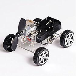 Mini motor inteligente robot coche, wind car DIY rompecabezas Robot Kit, girando al chasis DIY Robot Smart Auto, modelo de coche y la caja de la bateria para Arduino DIY