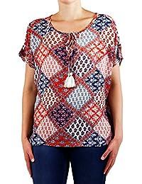 Object Abigail leichte Sommer-Bluse mit Hippie-Muster | Boho-Top mit Schleife