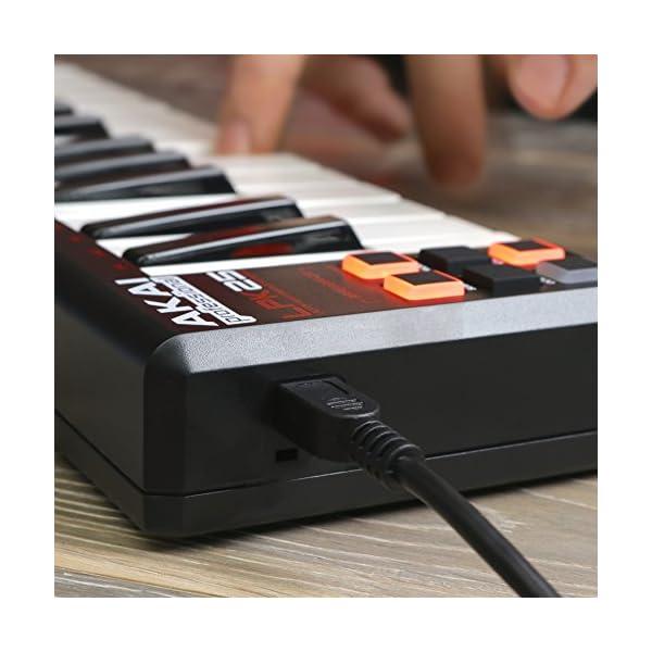 Akai Professional Tastiera Controller MIDI USB Portatile con 25 Tasti Sensibili alla Dinamica