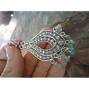 ❤ LINDGRÜNE CHANDELIER & NATURSTEINE ❤ Ohrringe