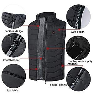 Sunronal Smart Charging Heizweste Warme Baumwollweste Jacke Batteriebetriebene Heizung Wiederaufladbare Weste Isolierte…