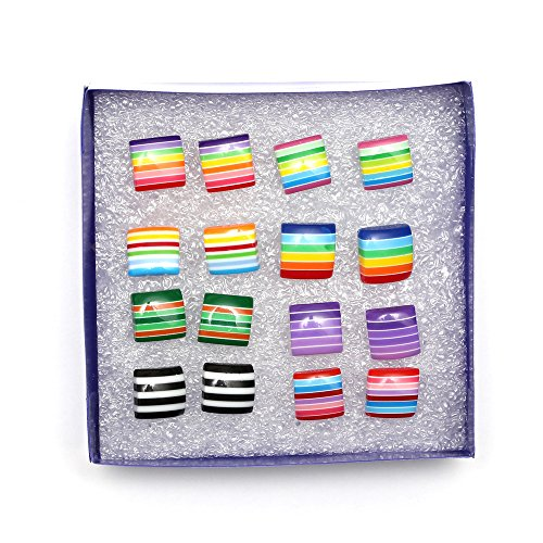 idin-plastic-stud-earrings-8-pairs-of-colourful-stripe-square-stud-earrings-plastic-posts-and-backs-