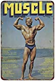 DOGT Metal tin Sign 12x16 inches Muscle Magazine York Rogue Fitness Bodybuilding Reproduction Decorative Metal Signs...