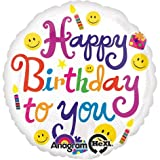 Amscan Bold Birthday To You Foil Palloncino Standard