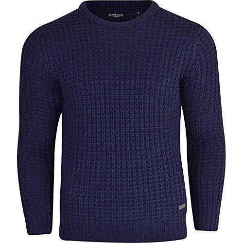 he Qualität 'Kolbig Zopfmuster' Pullover Winter Pullover - Synthetisch, Blaue Jeans, 100% acryl 100% acryl\n, Herren, Large (Echo Pullover Männer)