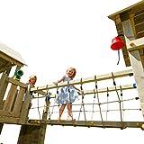 Blue Rabbit 2.0 Anbaumodul Hängebrücke @BRIDGE Spielturm Verbindung zwischen zwei Spieltürmen Kletterturm Anbau