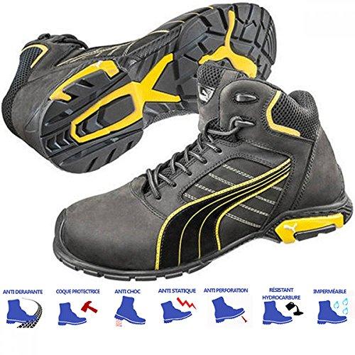 Chaussures de sécurité Montantes Puma Amsterdam S3 SRC noires/jaunes