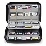Sisma Game Card Case für 64 Spiele der Nintendo Switch 3DS 3DSXL 2DS 2DSXL DS und SD Karten - Schwarz