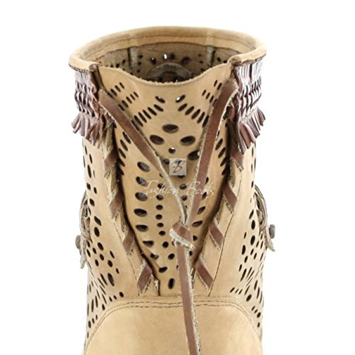 Sendra boots bottes 12440 fashionstiefelette (différents coloris) Beige - Beige