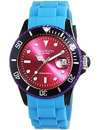 MADISON NEW YORK Unisex-Armbanduhr Candy Time Colour Festival Analog Quarz Silikon U4484E