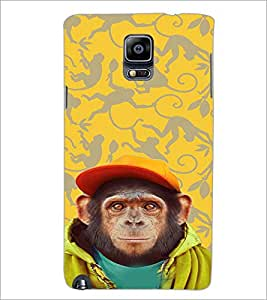 PrintDhaba Cute Monkey D-3653 Back Case Cover for SAMSUNG GALAXY NOTE 3 (Multi-Coloured)