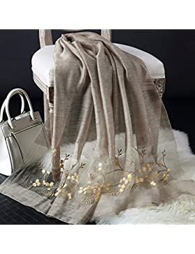 Pañuelo de seda bordado Bufanda Bufanda en primavera y otoño, primavera madre hembra delgada Xia 180cm*88cm,it's...