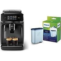Philips EP2220/10 SensorTouch Benutzeroberfläche Kaffeevollautomat, schwarz/schwarz-gebürstet + Kalk CA6903/10 Aqua…