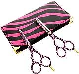 CANDURE® - professionnels de coiffure Ciseaux de coiffure Hair 5.5' pouces (liste 13.97cm), Beau Ciseaux Cheveux, Noir et Blanc Zebra Set