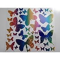 Bügelbild, Motiv: Schmetterlinge, Farbe: regenbogen, heißsiegelfähige Flexfolie