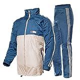 Outdoor Peak Motociclo Pioggia Cappotto Bicicletta Pioggia Cappotto Giacca Pantaloni Tuta per Uomo Donna Sport, Blau