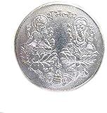 KANISHQLakshmi Ganesh Silver Coin with Shri Yantra-Pack of 5 Pcs