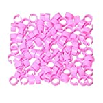 huertuer approx. 100 pcs/set colorful rings for birds and pigeon(random color) Huertuer Approx. 100 Pcs/Set Colorful Rings for Birds and Pigeon(Random Color) 51wYBZYW4wL