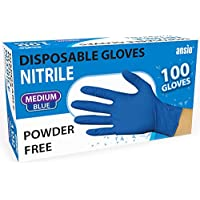 Nitrile Gloves Blue Powder free & disposable Medium Pack of 100
