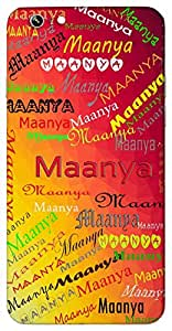 Maanya (Popular Girl Name) Name & Sign Printed All over customize & Personalized!! Protective back cover for your Smart Phone : Micromax Canvas E481