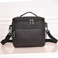 Preisvergleich für Yudanwin Leinwand-Lunch-Tasche Oxford Cloth Kalte Isolierung Lunch Kühltasche Lunch Bag (Schwarz)