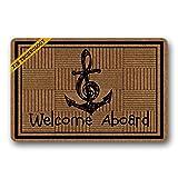 Fußmatten Welcome Aboard rutschfeste Design Gummi Fußmatte Eingang Teppich Fußmatte strapazierfähig Home Innen Mats