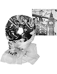 Soul Cats®–Pañuelo de Big Ben London Pañuelo–Pañuelo de color blanco
