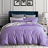 XMDNYE 100 Paar Lange Baumwollsatin Reine Farbe Vier Nähte, Alfalfa-Lila, 2,0 M (6,6 Fuß) Bett