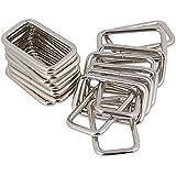 BQLZR 3.8cm Silver Metal Heavy Rectangle Bagues pour sacs ¨¤ main et sacs Accessoires Pack de 20