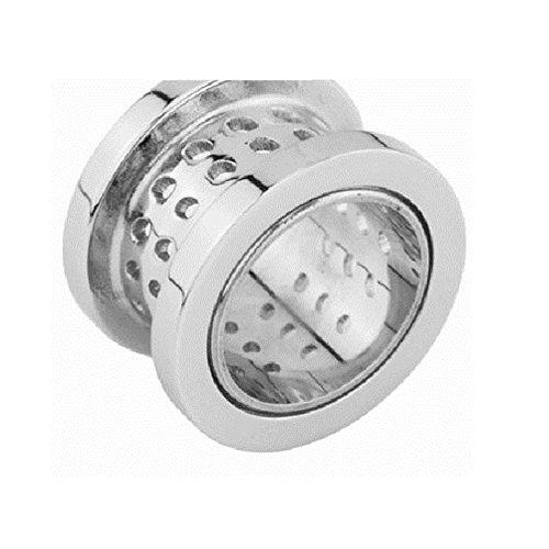 eeddoo® Stahl - Tunnel - Atmungsaktiv rund - 8 mm (Piercing Flesh Tunnel Ohr Plug für gedehnte Ohren Lobes Tubes)
