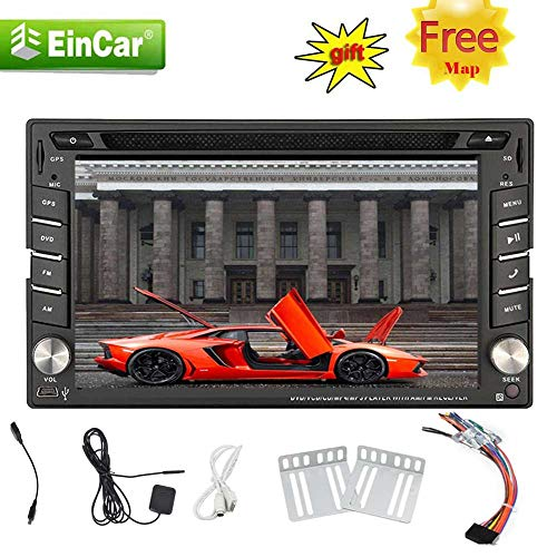 EINCAR 6,2-Zoll-HD-Digital-TFT-LCD-Touch Screen Doppel-DIN-Auto-DVD-CD-Audio-Stereo-Receiver-Player-Unterstützung FM AM-Radio Bluetooth Autoradio in Dash AUX USB SD Subwoofer SWC mit freiem 8GB G