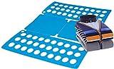 Gpct [lavagna] camicia vestiti cartella pieghevole portatile. Si piega magliette, pantaloni, pantaloncini, pigiama, asciugamani, pantaloni, maglioni. [FACILE e veloce per bucato] regolabile porta abiti pieghevole Flip fold rack organizer- blu