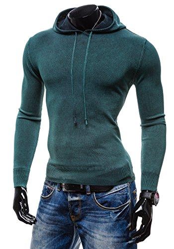 BOLF Herrenpullover Pulli Sweatshirt Sweatjacke Sweater Top S-WEST R918 Grün