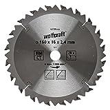 Wolfcraft 6739000 Kreissägeblatt, Silber