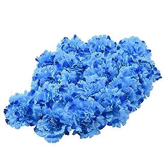 LianLe 20unidades flores claveles artificiales Decoración para Boda Casa