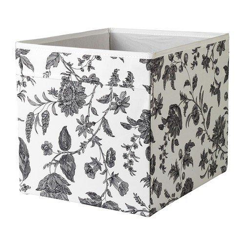 IKEA Regalfach DRÖNA Aufbewahrungsbox Regaleinsatz - 33x38x33 cm (BxTxH) - weiß mit grauen Ornamenten - passend für Kallax, Expedit, Besta, etc. (Regal Box)