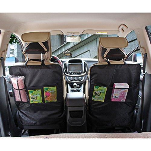 matcc 2pcs organisateur si ge arri re de voiture avec poches en filet protection de dossier de. Black Bedroom Furniture Sets. Home Design Ideas