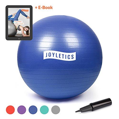 Joyletics® Gymnastikball »M« | Sitzball und Fitnessball für EIN entlastendes Sitzen und vielfältiges Ganzkörpertraining | Gymnastik-Ball Durchmesser 75 cm, blau