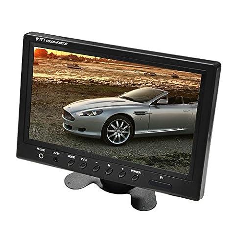 9 Pouces Ecran TFT LCD Moniteur Couleur PAL/NTSC/ SECAM pour Voiture,Caméra de Recul Vue Arrière DVR VCD Inversion par sweetlife