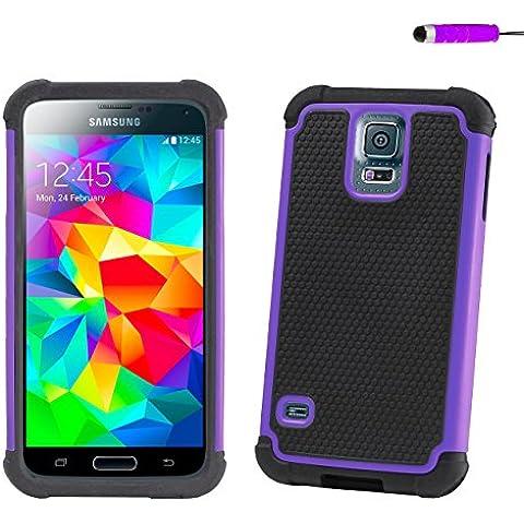 32nd®–Funda para Samsung Galaxy S5, de silicona Violeta Viola - anti-urto - viola